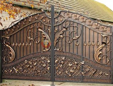 Кованые ворота и калитки в частный дом